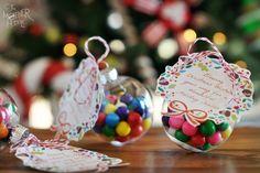 bubble gum Christmas ornaments