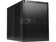SilverStone DS380B Black Aluminum front door, SECC body NAS chassis Premium 8-bay Small Form Factor NAS Chassis SFX PSU (sold separately) Power Supply