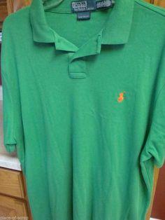 278408ea0 RALPH LAUREN POLO Mens Golf Shirt XXL 2XL 2X Custom Fit Pique Green S S