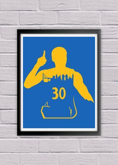 Steph Curry #30 Golden State Warriors Poster Print NBA Nation Basketball Association Sports Fan Minimalist Wall Art House Warming.  Stephen Curry #30 for the Golden State Warriors! This Minimalist Poster Print showcases the Oakland Skyline while sporting the vibrant colors of the Warriors. This print will make a great addition to any Warriors fan collection, or make for the perfect gift for any Oakland sports follower out there!