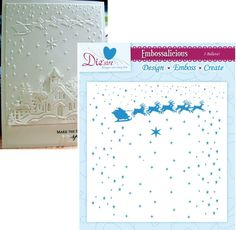 I BELIEVE embossing folder By CRAFTER'S COMPANION 6X6 Christmas santa sleigh  #crafterscompanion Embossing Techniques, Card Making Supplies, Santa Sleigh, Crafters Companion, Embossing Folder, Arts And Crafts, How To Make, Christmas, Cards