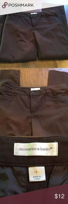 Brown dress pants   Christopher & Banks. Nice brown dress work style pants Christopher & Banks Pants