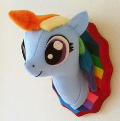 Small Rainbow Dash Faux Taxidermy by MisfitMenagerie on Etsy, $25.00