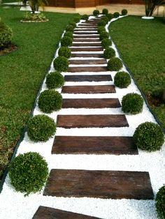 Small Front Yard Landscaping, Backyard Patio Designs, Modern Landscaping, Garden Landscaping, Landscaping Ideas, Walkway Ideas, Garden Paths, Path Ideas, Backyard Ideas