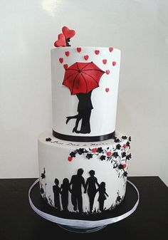 I made this cake for my husband,all silhouettes were cut out of fondant with a scalpel,thanks for looking, I hope you like it :)
