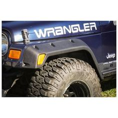 4 Piece All Terrain Fender Flare Kit Inch Wrangler TJ-Get that aggressive off road look with the Rugged Ridge All Terrain Fender Flare! These flares feature a stylish design while protecting your vehicles paint from flying rocks and mud. 2003 Jeep Wrangler, Jeep Wrangler Parts, Jeep Parts, Jeep Tj, Jeep Wrangler Unlimited, Jeep Fenders, Jeep Grill, Rugged Ridge, Custom Jeep