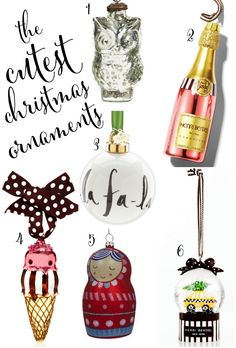 kate spade inspired christmas tree | The Cutest Christmas Ornaments | Ashley Brooke Nicholas