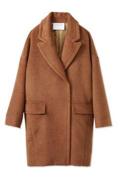 エムトロワ 大きめ衿&ビッグシルエットで華奢見せしたい、ウール混フェミニンコート <キャメル>の商品写真1