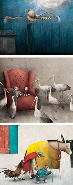Details of illustrations by Mexican artist Gabriel Pacheco. http://gabriel-pacheco.blogspot.com/