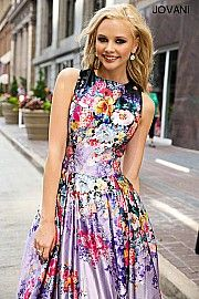Printed Floral Ballgown 22753