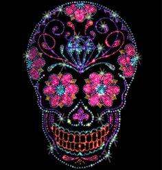 Rhinestone Candy Skull on Etsy, $32.00