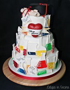 Torta di Laurea in Chimica e Tecnologie Farmaceutice - Chemistry cake