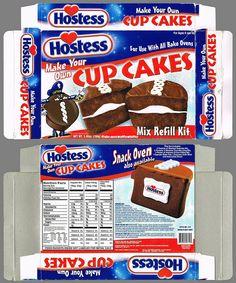 Hostess Cupcakes Box | Hostess CupCakes Mix Refill Kit - 2003 Cupcake Mix, Cupcake In A Cup, Cupcake Boxes, Box Cake, Cupcakes, Hostess Cakes, Cake Oven, Easy Bake Oven, Snack Recipes
