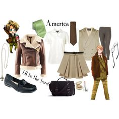 America inspired outfit from Hetalia. My home country Casual Cosplay, Cosplay Outfits, Anime Outfits, Cosplay Ideas, Anime Inspired Outfits, Character Inspired Outfits, Themed Outfits, Hetalia Cosplay, Fandom Fashion