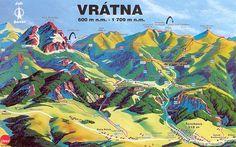 Mapa leto a turistika Malá Fatra-Vrátna Big Country, Travel Photos, Around The Worlds, Mountains, Google, Nature, Travel Pictures, Bergen