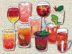 Illustration: Red Cocktails