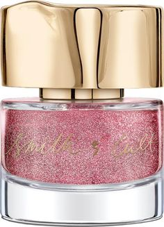 Smith & Cult Nail Lacquer Gay Ponies Dancing In The Snow. The colour of unicorns pink and silver glitter , who wouldn't want a nail polish named 'Gay Ponies Dancing In The Snow' It's camp and kitsch and cool, and inspired by 'giant ice cream sundaes and a gang of Studio 54 stragglers'. #Cult Beauty #Women #fashion #obsessory #fashion #lifestyle #style #myobsession #glamour #luxury #trend #pink  #smith&cult