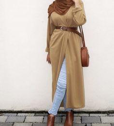 Stylish Hijab, Hijab Chic, Modern Hijab Fashion, Muslim Fashion, Jumpsuit Hijab, Cold Weather Dresses, Hijab Collection, Hijab Trends, Weekend Dresses