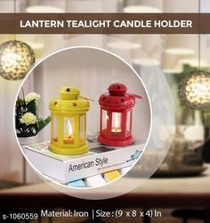 Checkout this latest Table Lamps Product Name: *Elegant Lantern Iron Tealight Candle Holder* Product Breadth: 8 Inch Product Height: 4 Inch Product Length: 9 Inch Multipack: 2 Country of Origin: India Easy Returns Available In Case Of Any Issue   Catalog Rating: ★4.3 (448)  Catalog Name: Home Elite Lantern Iron Tealight Candle Holders CatalogID_129437 C127-SC1620 Code: 273-1060559-609