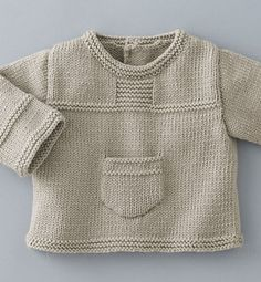 New knitting baby pullover beautiful Ideas Baby Boy Knitting Patterns, Baby Cardigan Knitting Pattern, Knitting For Kids, Baby Patterns, Knit Patterns, Knit Baby Sweaters, Knitted Baby Clothes, Knit Or Crochet, Crochet Baby