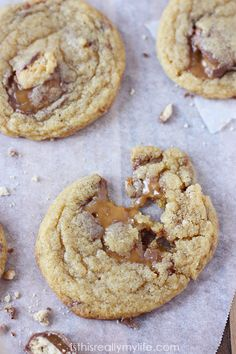 Twix Pudding Cookies