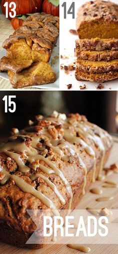 fall bread recipes -This site actually has 61 different fall recipes, not just bread recipes but breakfast, casseroles etc. you name it!