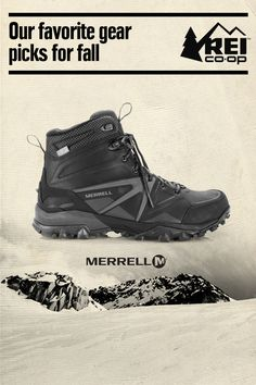 As fall rolls around, there's certain gear and clothing that get us stoked for a new season of fun outdoors. Our must-haves for fall include the Men's Merrell Capra Glacial Ice + Mid WP Winter Hiking Boots. Shop now. Hiking Gear, Hiking Backpack, Outdoor Outfit, Outdoor Gear, Outdoor Life, Winter Hiking Boots, Climbing Outfits, Best Hiking Shoes, Hunting Clothes
