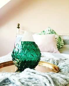 Trendy Bedroom Ideas Green And Grey Pillows Trendy Bedroom, Cozy Bedroom, Bedroom Decor, Bedroom Ideas, Bedroom Colors Purple, Bedroom Green, Beach Style Curtains, Copper Bedroom, Rustic Color Palettes