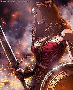 Wonder Woman by Mujer Maravilla(? Wonder Woman Film, Wonder Woman Kunst, Dc Comics Art, Comics Girls, Marvel Dc Comics, Gal Gadot, Super Heroine, Wander Woman, Univers Dc