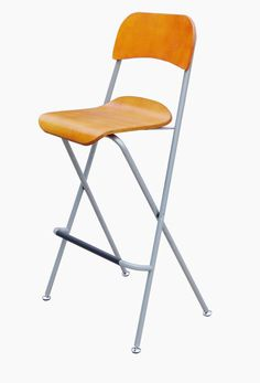 Folding High Chair Bar Stool Folding Wood Metal Chair Two-Pack 11036