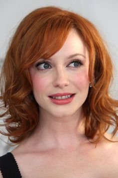 Christina Hendricks. What a beautiful red--and pretty eye makeup