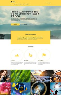 Corporate Advertising PHP Template Build a first-rate business website with this professional responsive WordPress theme for advertising agencies. Cherry Framework ensures absolute compatibility with all modern devices and browsers, ease of customization, Php Website, Build Your Own Website, Html Website Templates, Corporate Website Templates, Templates Free, Wordpress Website Design, Photoshop, Building A Website