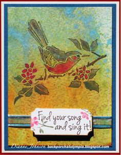 Find Your Song, card by Dianne Johnson