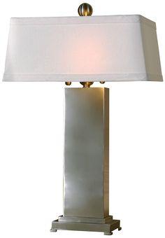 Uttermost Metal Satin Nickel Table Lamp - EuroStyleLighting.com