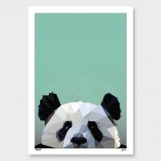 Panda Art Print by Yhodesign NZ Art Prints, Art Framing Design Prints, Posters & NZ Design Gifts