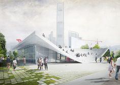 A² - WKCD Arts Pavilion proposal by XML.