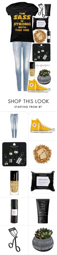 """Haha This is My Cousin"" by sparklypinkelephant ❤ liked on Polyvore featuring STELLA McCARTNEY, Converse, Topshop, Urban Decay, Inglot, Eight & Bob, NARS Cosmetics, Surratt and Half Light Honey"