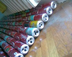 How to build DIY solar panels out of soda cans. .                                                                                                                                                                                 More