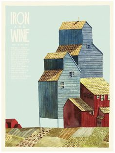 Iron and Wine concert poster by Landland (SOLD OUT)