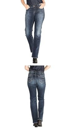 4f0f45d5049 Silver Jeans Women s Plus Size Elyse Relaxed Fit Mid Rise Slim Bootcut Jeans