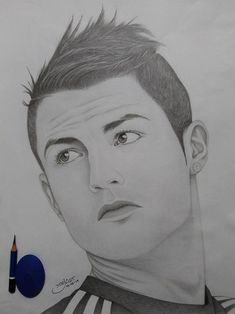 Original Sport Drawing by Iman Prayogi Dark Art Drawings, Art Drawings Sketches Simple, Graphite Drawings, Editing Pictures, Pictures To Draw, Messi Drawing, Pencil Drawing Images, Drawing Scenery, Sports Drawings