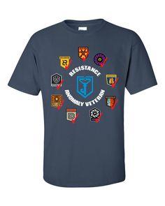Ingress Resistance Anomaly Veteran T-shirt -- Aegis Nova edition