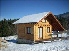 Location vacances chalet Les Adrets: Photo du chalet Face SUD, en hiver