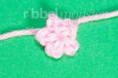Blumen häkeln – winzigste Blüte häkeln