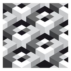 Op art 3D Cube
