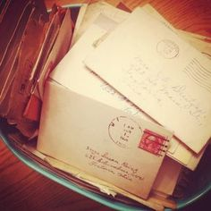 P.S. I Love You...take the time to write a letter to someone you love or haven't talked to in awhile