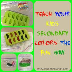 Crazy Coupon Savings: Teach Your Kids Secondary Colors the Fun Way
