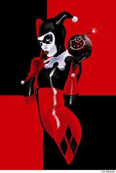 Harley Quinn and Hello Kitty by The Rahzzah