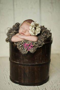 baby flower headband..big bow..ivory headband..newborn headband..girl headband, toddler headband..photography prop,birthday prop. $12.00, via Etsy.