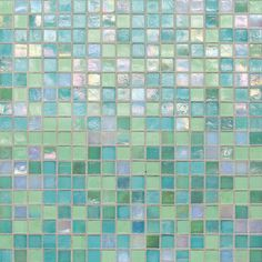 City Lights, St. Thomas (green/blue iridescent mosiac) by Daltile!
